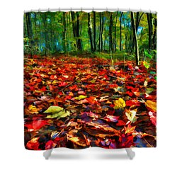Natures Carpet In The Fall Shower Curtain by Dan Friend