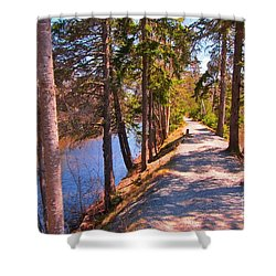 Natures Highway Shower Curtain by John Malone