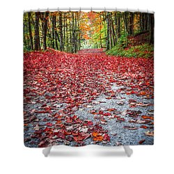 Nature's Red Carpet Shower Curtain by Edward Fielding