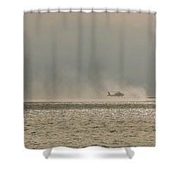 Navy Life Saving Practice Shower Curtain by Angela A Stanton