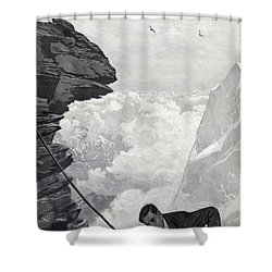 Nearly There Shower Curtain by Arthur Herbert Buckland