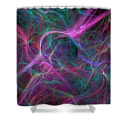 Nebula Shower Curtain by RochVanh
