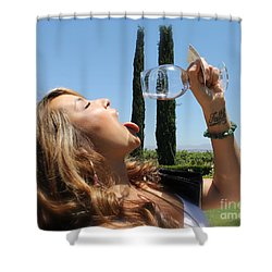 Necture Of The Gods...every Last Drop Shower Curtain by Pamela Walrath