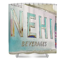 Nehi Ice Cold Beverages Sign Shower Curtain by Liane Wright