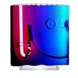 Neon Glow 2 Shower Curtain by Newel Hunter