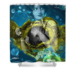 Neptune's Daughter Shower Curtain by Seth Weaver