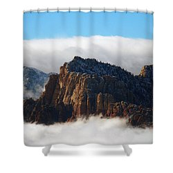 Nestled In The Clouds Shower Curtain by Alan Socolik