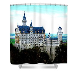 Neuschwanstein Castle  Shower Curtain by The Creative Minds Art and Photography