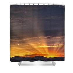 Nevada Sunset Shower Curtain by Janis Knight