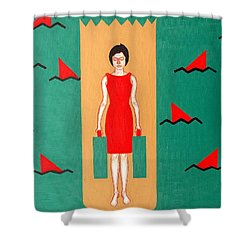 Shark Infested Water Shower Curtain by Patrick J Murphy