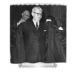 New Court Justice Goldberg Shower Curtain by Underwood Archives