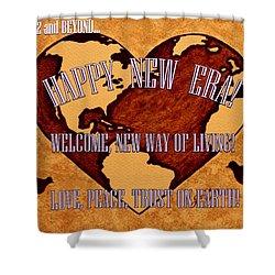 New Era On Earth A New Begining Shower Curtain by Georgeta  Blanaru