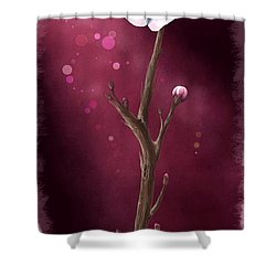 New Life Shower Curtain by Veronica Minozzi