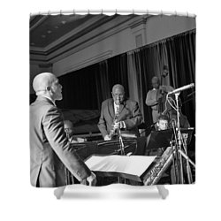 New Orleans Jazz Orchestra Shower Curtain by William Morgan