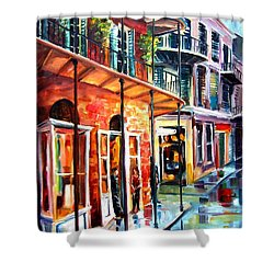 New Orleans Rainy Day Shower Curtain by Diane Millsap