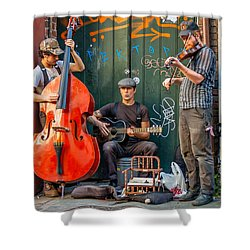 New Orleans Street Musicians Shower Curtain by Steve Harrington