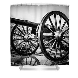 New Orleans Washington Artillery Park Cannon Shower Curtain by Paul Velgos