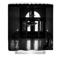 New Photographic Art Print For Sale Bradbury Building 12 Downtown La Shower Curtain by Toula Mavridou-Messer
