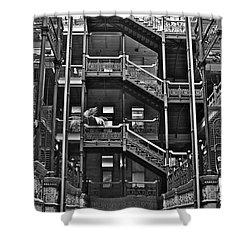 New Photographic Art Print For Sale Bradbury Building Downtown La Shower Curtain by Toula Mavridou-Messer