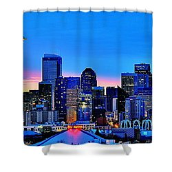 New Seattle Day Shower Curtain by Benjamin Yeager