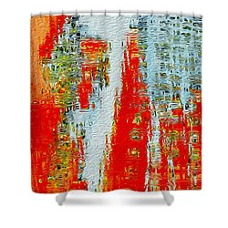 New Town Shower Curtain by Jack Zulli