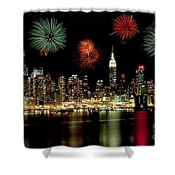 New York City Fourth Of July Shower Curtain by Anthony Sacco