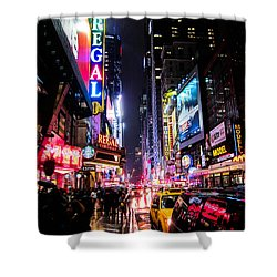 New York City Night Shower Curtain by Nicklas Gustafsson