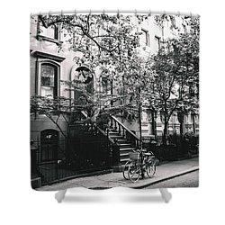 New York City - Summer - West Village Street Shower Curtain by Vivienne Gucwa