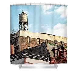 New York City Water Tower 2 Shower Curtain by Gary Heller