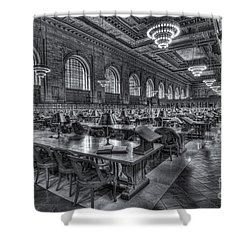 New York Public Library Main Reading Room V Shower Curtain by Clarence Holmes