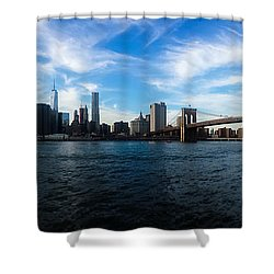 New York Skyline - Color Shower Curtain by Nicklas Gustafsson