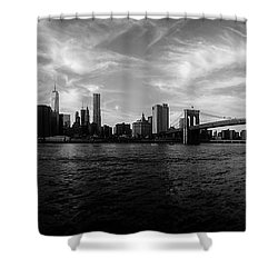 New York Skyline Shower Curtain by Nicklas Gustafsson