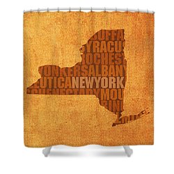 New York Word Art State Map On Canvas Shower Curtain by Design Turnpike