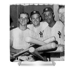 New York Yankee Sluggers Shower Curtain by Underwood Archives