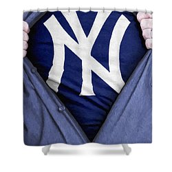 New York Yankees Fan Shower Curtain by Antony McAulay