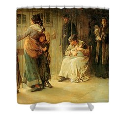 Newgate Committed For Trial, 1878 Shower Curtain by Frank Holl