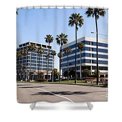 Newport Beach Office Buildings Orange County California Shower Curtain by Paul Velgos