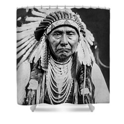 Nez Perce Indian Man Circa 1903 Shower Curtain by Aged Pixel