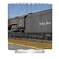 Nickel Plate Road Shower Curtain by Skip Willits