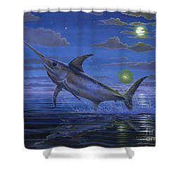 Night Bite Off0066 Shower Curtain by Carey Chen