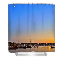 Night Fishing Shower Curtain by Frozen in Time Fine Art Photography