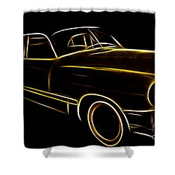 Night Rider Shower Curtain by Cheryl Young