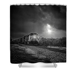 Night Train Shower Curtain by Robert Frederick