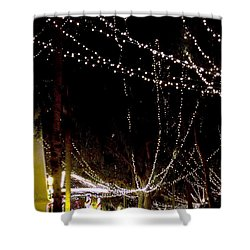 Nights Of Lights Shower Curtain by Kenneth Albin