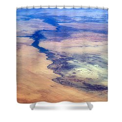 Shower Curtain featuring the photograph Nile River From The Iss by Science Source