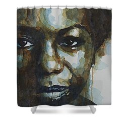 Nina Simone Shower Curtain by Paul Lovering