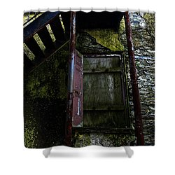 No Entry Shower Curtain by Richard Reeve