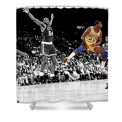No Look Pass Shower Curtain by Brian Reaves
