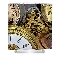 No More Time Shower Curtain by Tom Gari Gallery-Three-Photography
