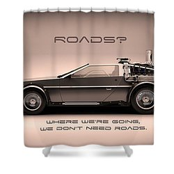 No Roads Shower Curtain by Patrick Charbonneau